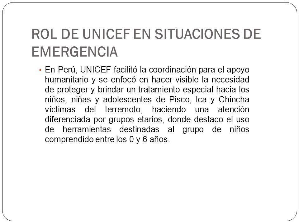 En Perú, UNICEF facilitó la coordinación para el apoyo humanitario y se enfocó en hacer visible la necesidad de proteger y brindar un tratamiento espe