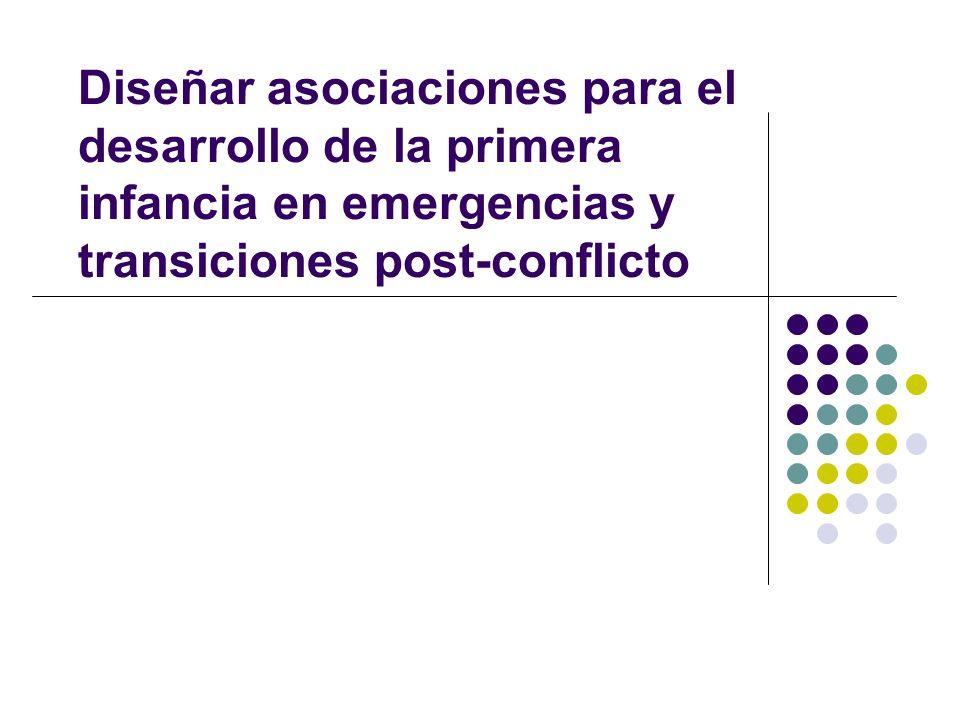 Diseñar asociaciones para el desarrollo de la primera infancia en emergencias y transiciones post-conflicto