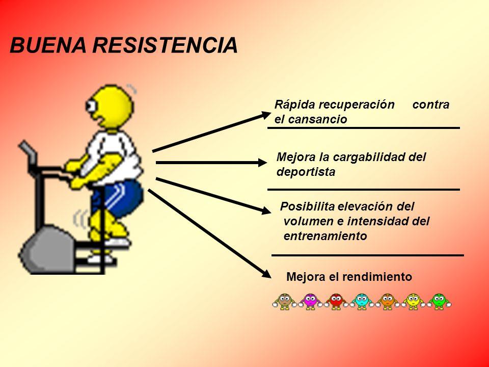 Rápida recuperación contra el cansancio Mejora la cargabilidad del deportista Posibilita elevación del volumen e intensidad del entrenamiento Mejora e