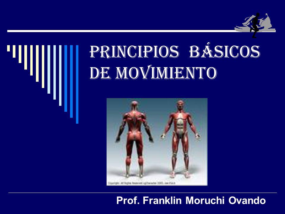 PRINCIPIOS BÁSICOS DE MOVIMIENTO Prof. Franklin Moruchi Ovando
