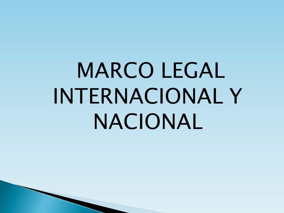 MARCO LEGAL INTERNACIONAL Y NACIONAL