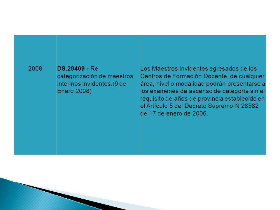 2008DS.29409 - Re categorización de maestros interinos invidentes.(9 de Enero 2008) Los Maestros Invidentes egresados de los Centros de Formación Doce