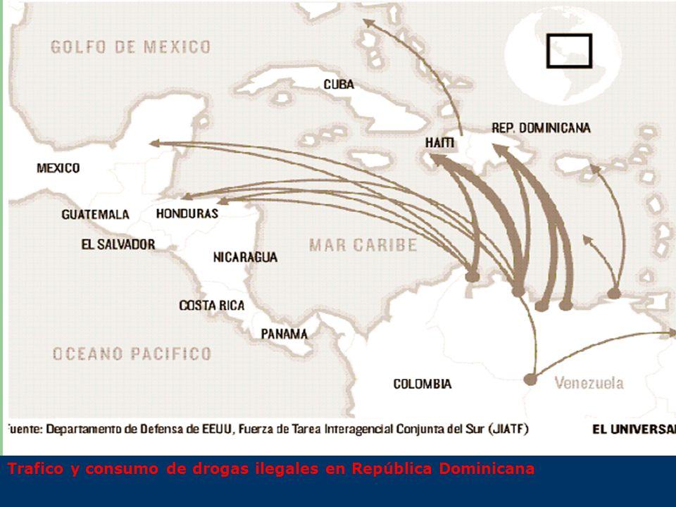 Trafico y consumo de drogas ilegales en República Dominicana