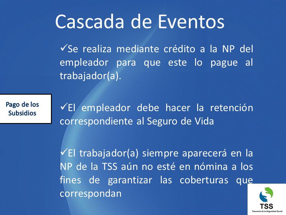 Se realiza mediante crédito a la NP del empleador para que este lo pague al trabajador(a). El empleador debe hacer la retención correspondiente al Seg