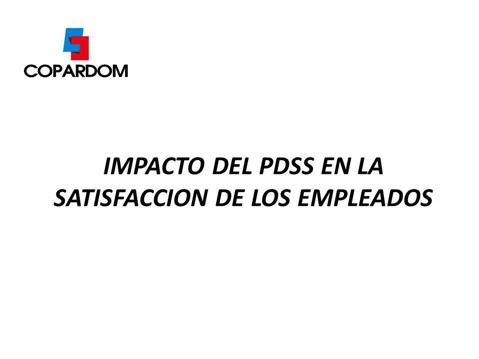 IMPACTO DEL PDSS EN LA SATISFACCION DE LOS EMPLEADOS
