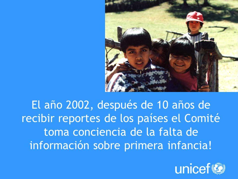 Creación Comentario General 7 Implementación de los derechos de los niños en primera infancia Para toda la Infancia, Salud, Educación, Igualdad y Protección ASI LA HUMANIDAD AVANZA