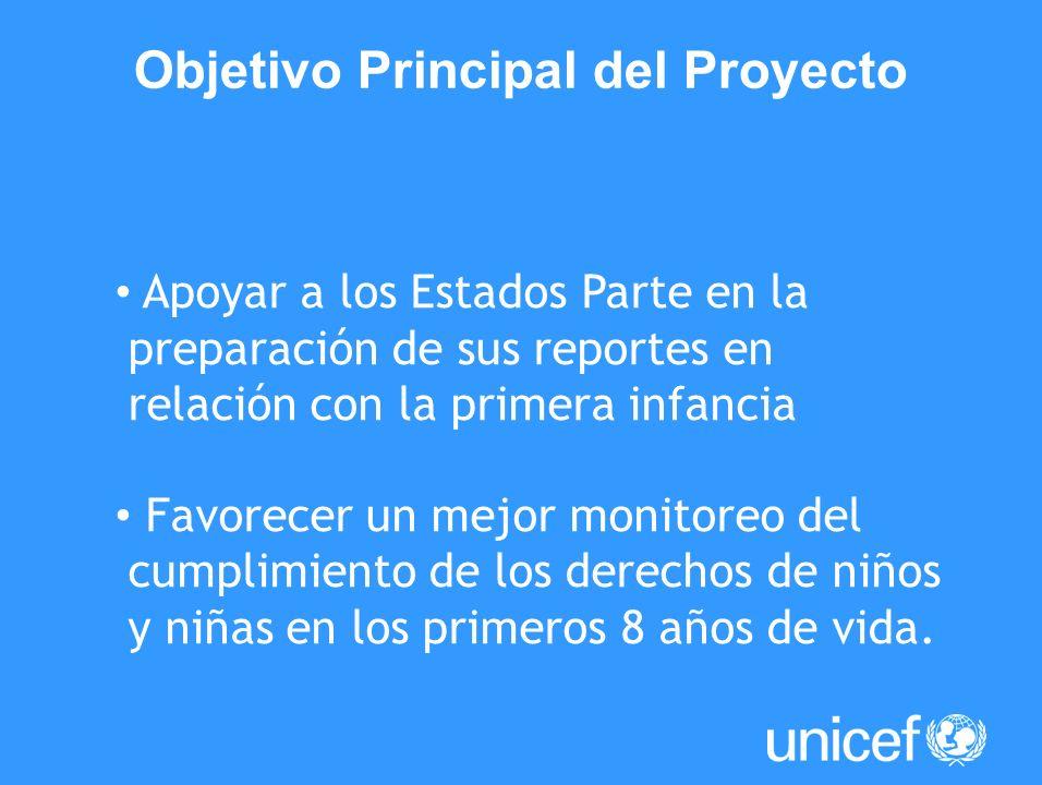 Apoyar a los Estados Parte en la preparación de sus reportes en relación con la primera infancia Favorecer un mejor monitoreo del cumplimiento de los