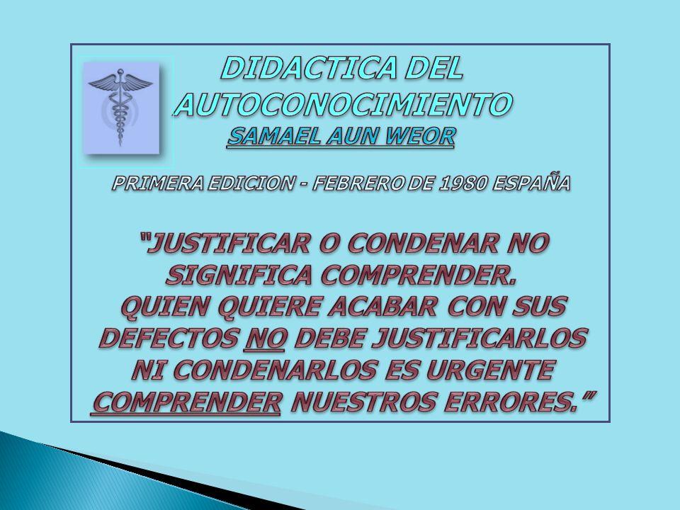 PERO EL PROCESO DEL CAMBIO, DE LA DISOLUCIÓN, DEBE DE SER METÓDICO, DIDÁCTICO Y HASTA DIALÉCTICO, DE LO CONTRARIO NOS HALLARÍAMOS DESORIENTADOS.