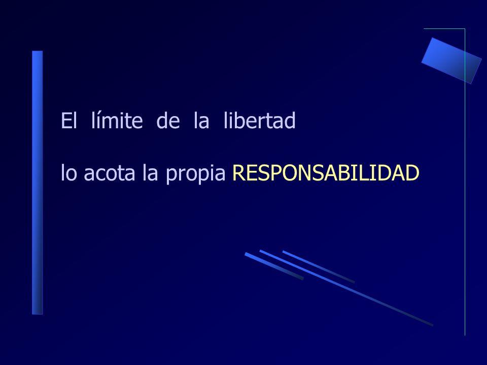 El límite de la libertad lo acota la propia RESPONSABILIDAD
