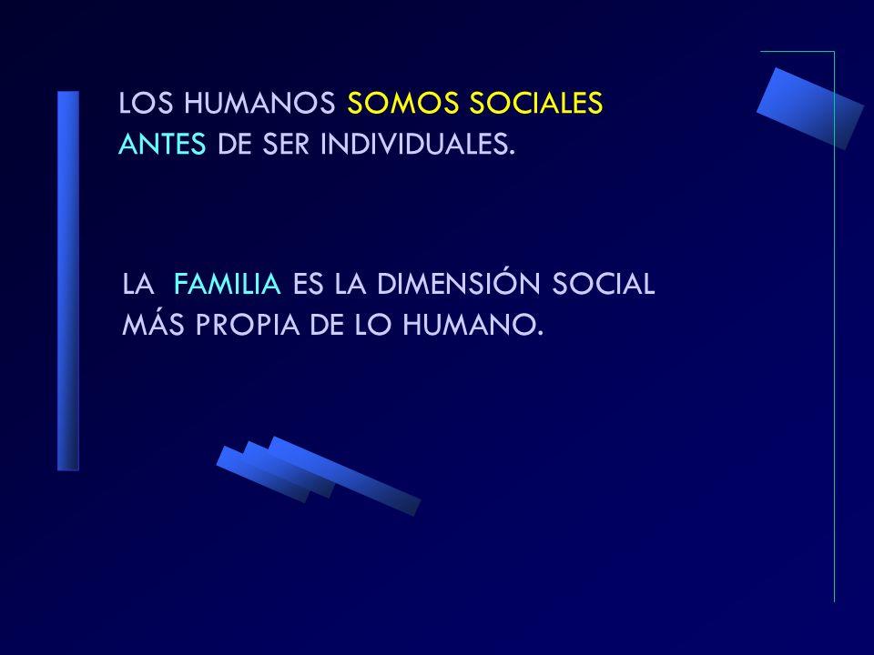 LOS HUMANOS SOMOS SOCIALES ANTES DE SER INDIVIDUALES.