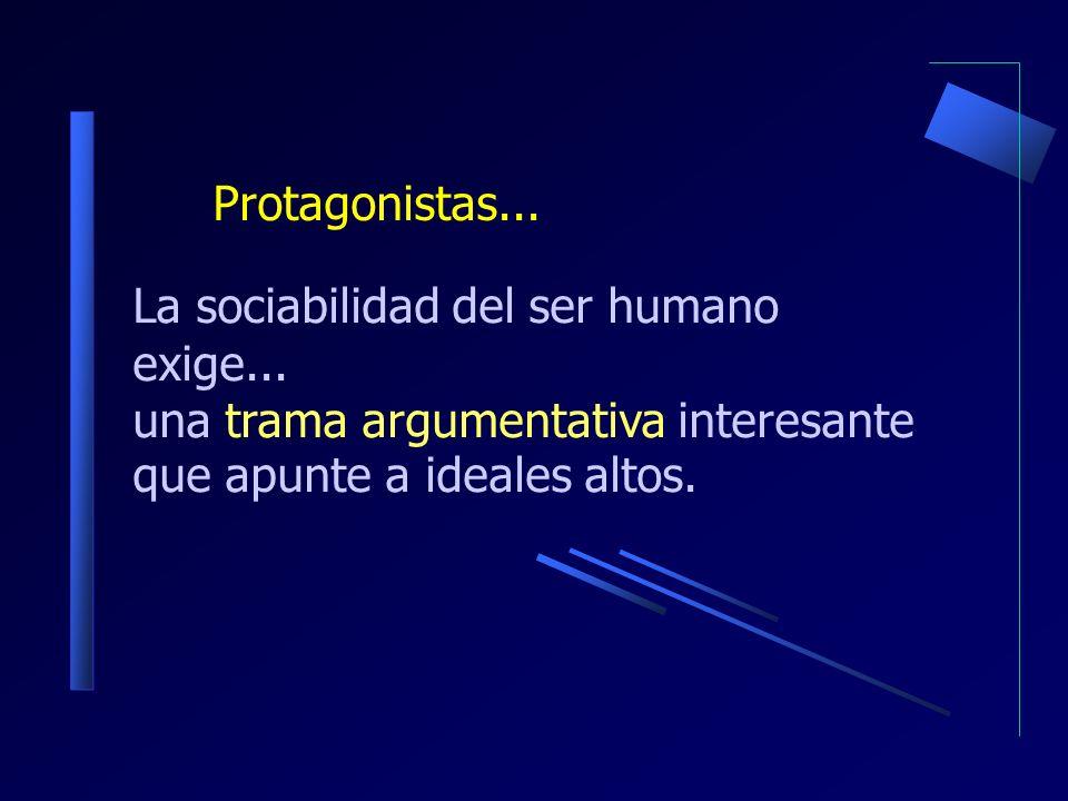 La sociabilidad del ser humano exige...