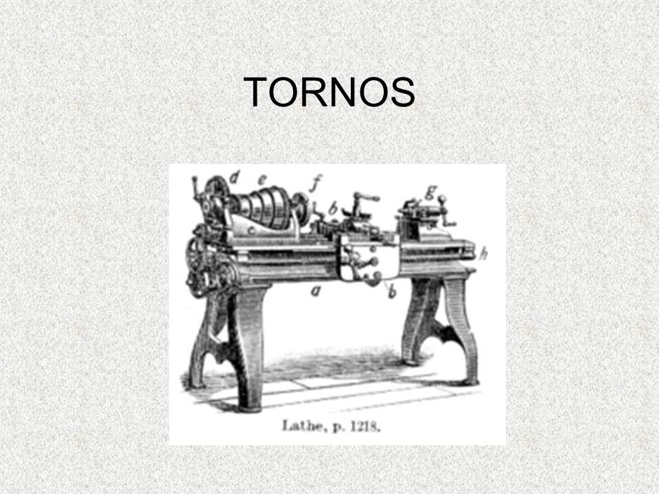 TORNOS El torno es una de las máquinas herramientas más antiguas; funciona haciendo girar rápidamente una pieza contra un dispositivo de corte fijo.