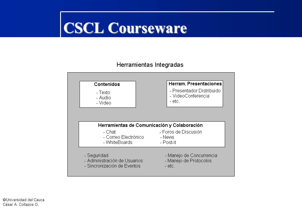 Universidad del Cauca César A. Collazos O. CSCL Courseware