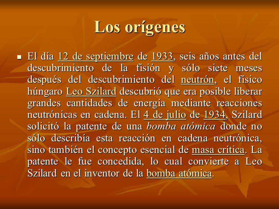 Los orígenes II No la patentó en provecho propio, sino precisamente para prevenir que otros la construyeran: fue el primer intento de no-proliferación de la Historia.