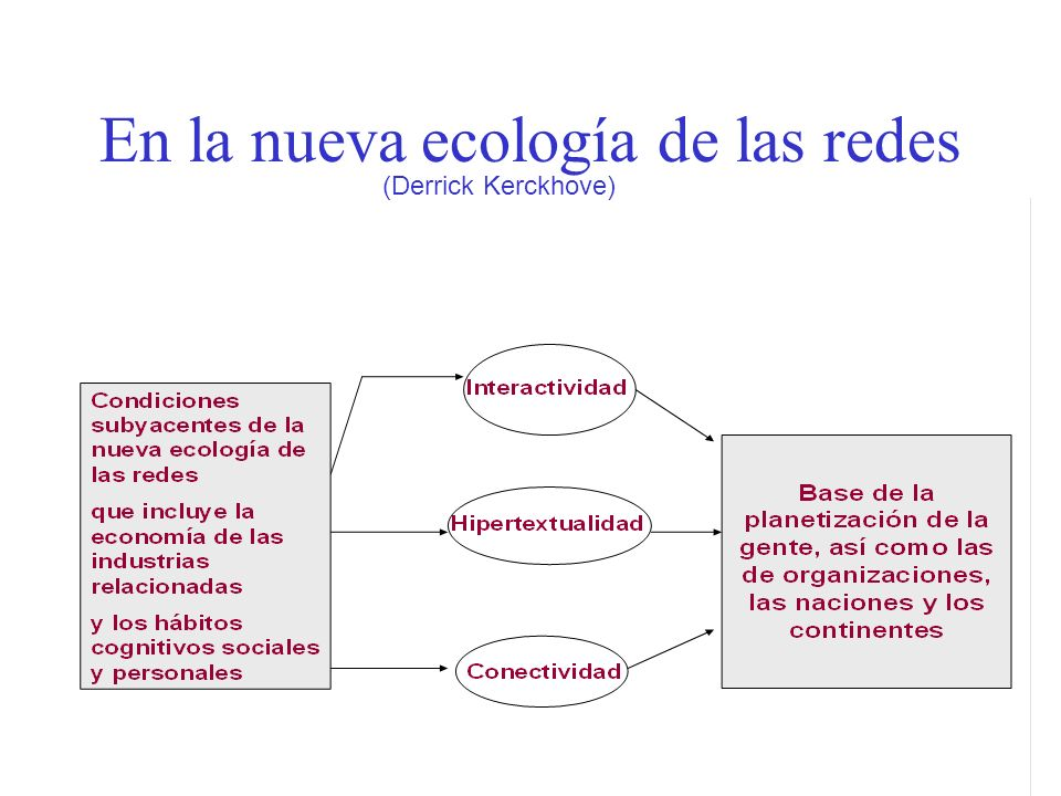 En la nueva ecología de las redes (Derrick Kerckhove)