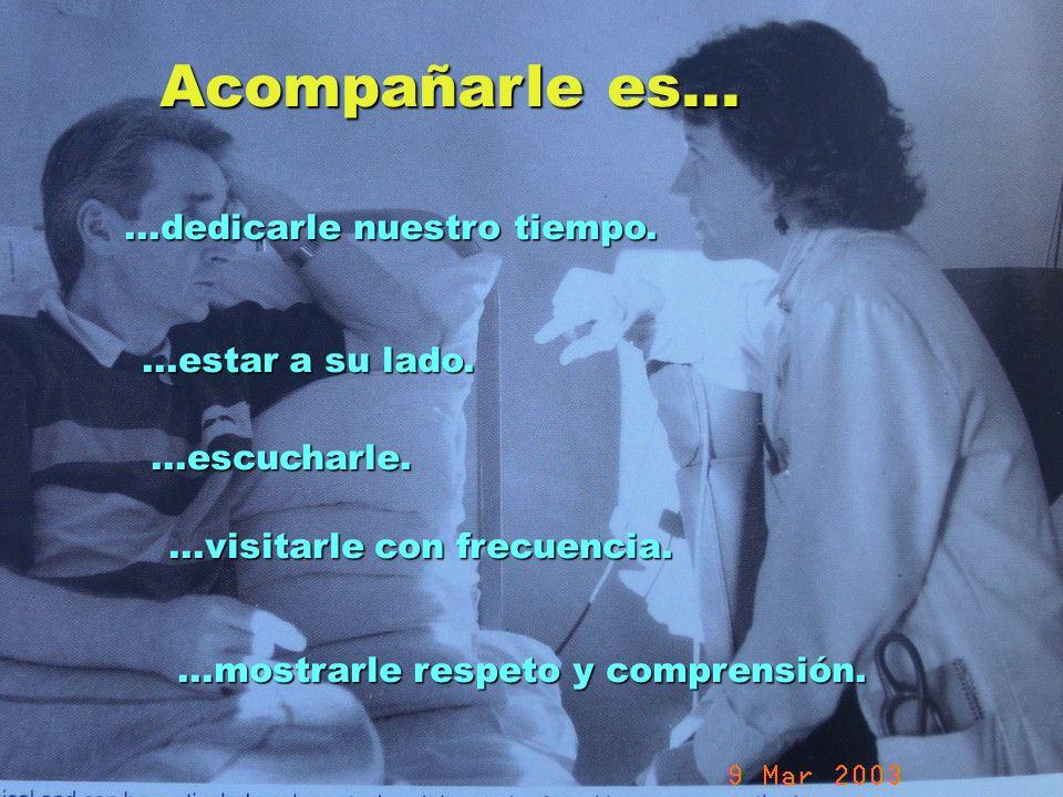 UMP Hospital San Juan de Dios (Santurce-Vizcaya). 2000 Acompañarle es......dedicarle nuestro tiempo....estar a su lado....escucharle....visitarle con