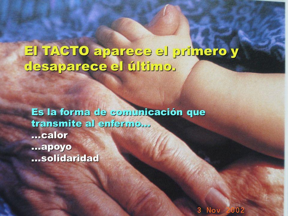 UMP Hospital San Juan de Dios (Santurce-Vizcaya). 2000 El TACTO aparece el primero y desaparece el último. Es la forma de comunicación que transmite a