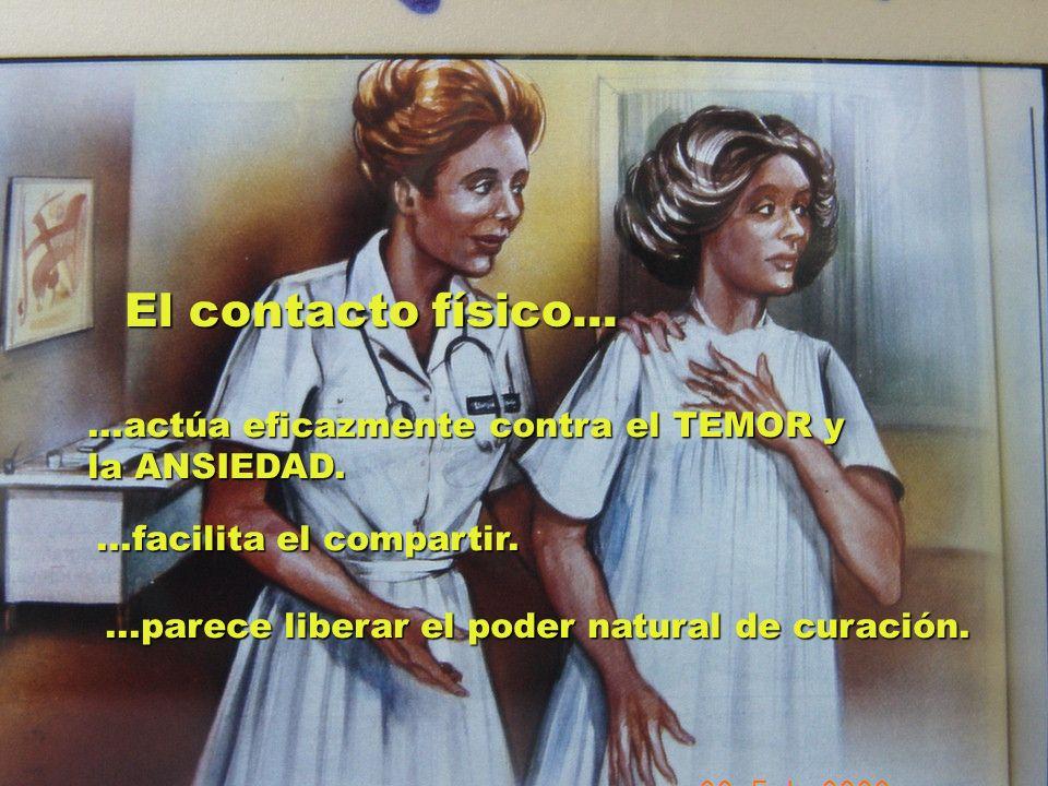 UMP Hospital San Juan de Dios (Santurce-Vizcaya). 2000 El contacto físico......actúa eficazmente contra el TEMOR y la ANSIEDAD....facilita el comparti