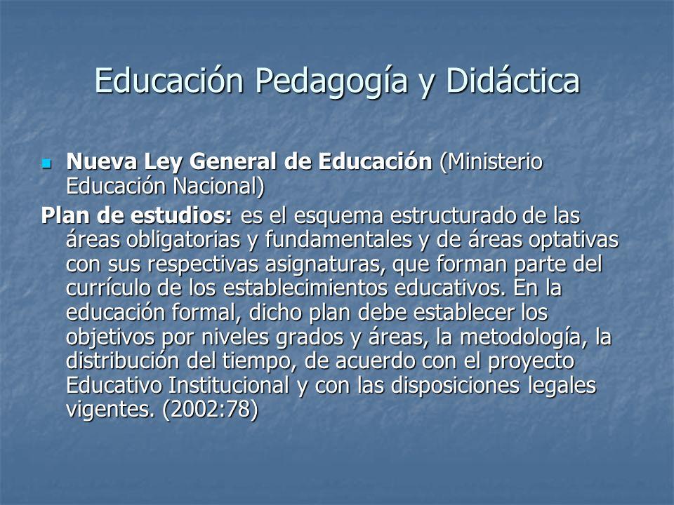 Educación Pedagogía y Didáctica Nueva Ley General de Educación (Ministerio Educación Nacional) Nueva Ley General de Educación (Ministerio Educación Na