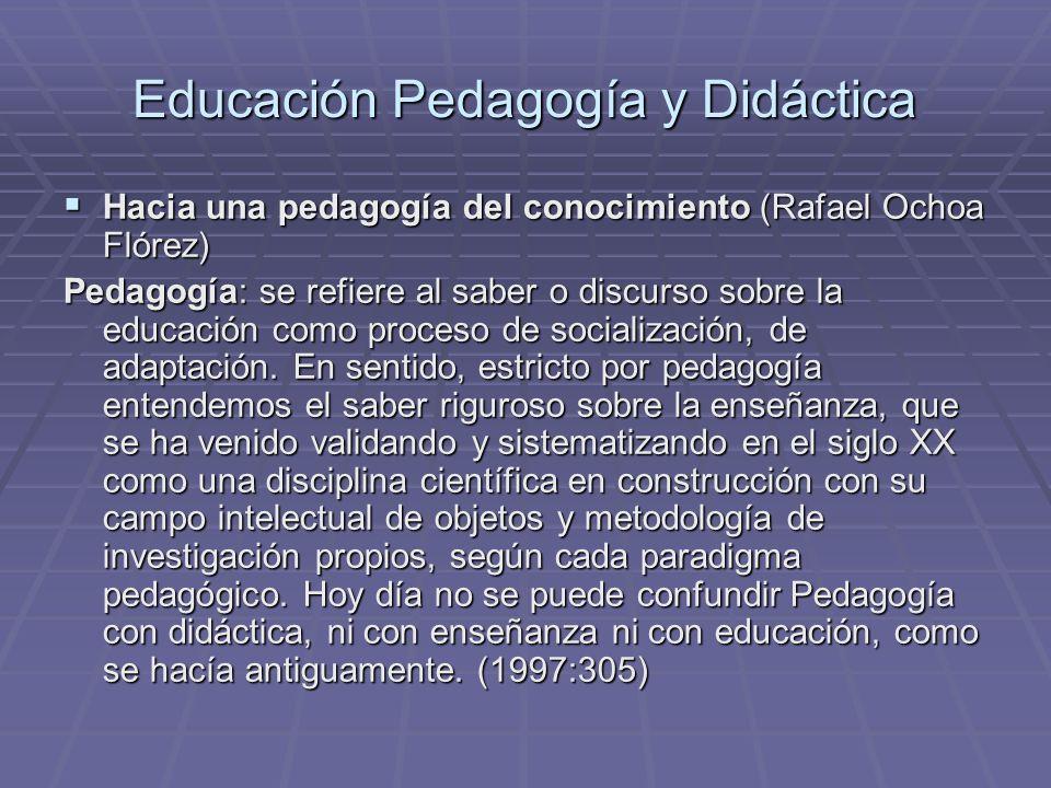 Educación Pedagogía y Didáctica Hacia una pedagogía del conocimiento (Rafael Ochoa Flórez) Hacia una pedagogía del conocimiento (Rafael Ochoa Flórez)