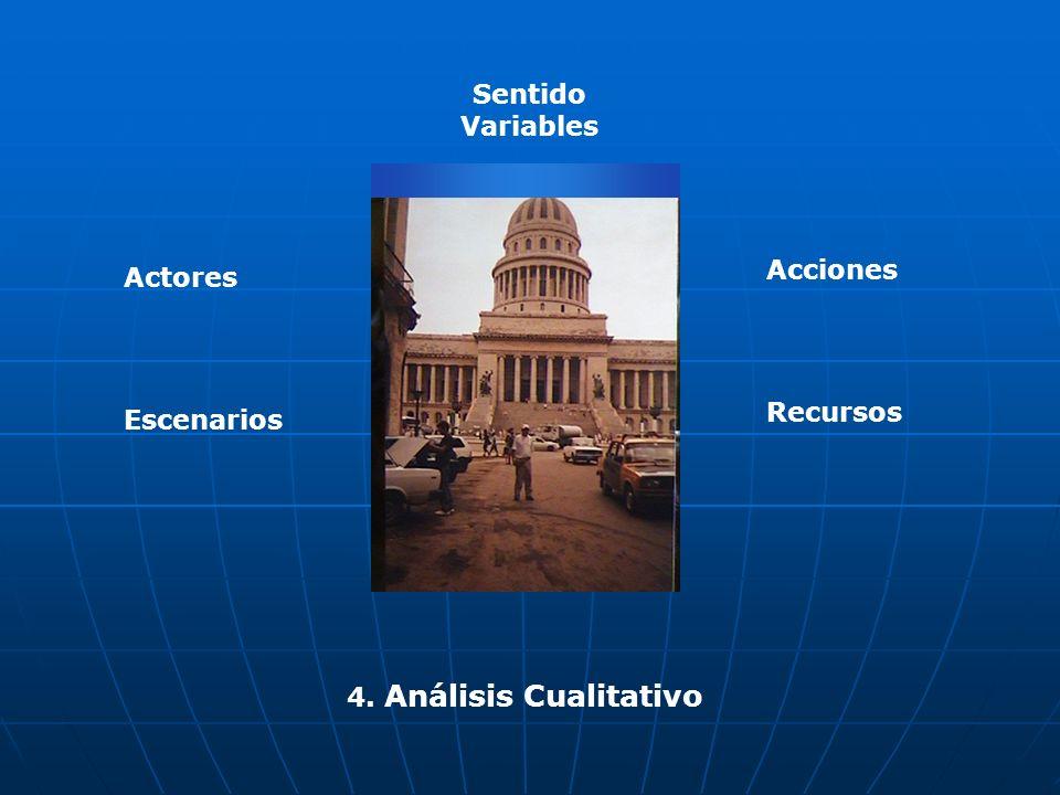 4. Análisis Cualitativo Actores Escenarios Acciones Recursos Sentido Variables