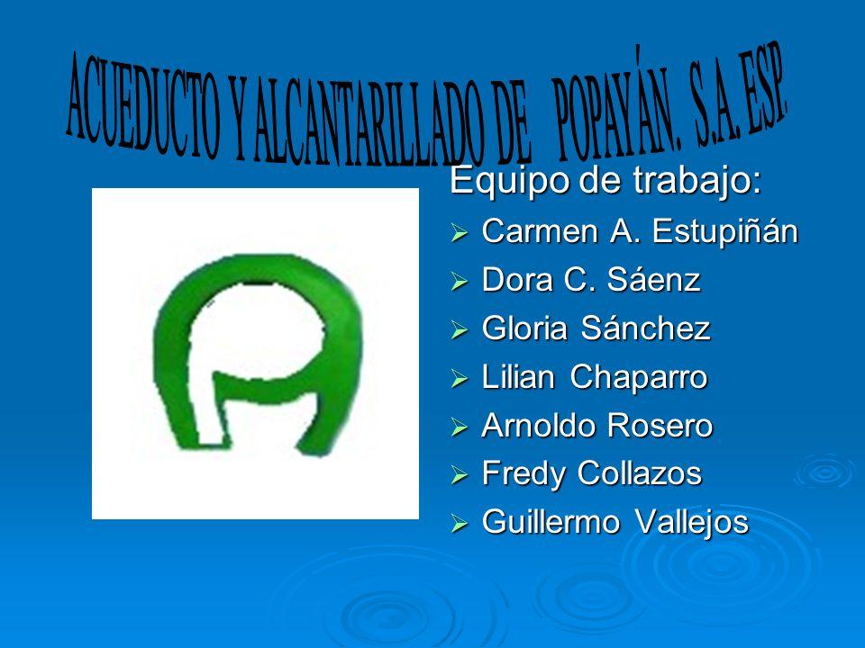 Equipo de trabajo: Carmen A. Estupiñán Carmen A. Estupiñán Dora C. Sáenz Dora C. Sáenz Gloria Sánchez Gloria Sánchez Lilian Chaparro Lilian Chaparro A