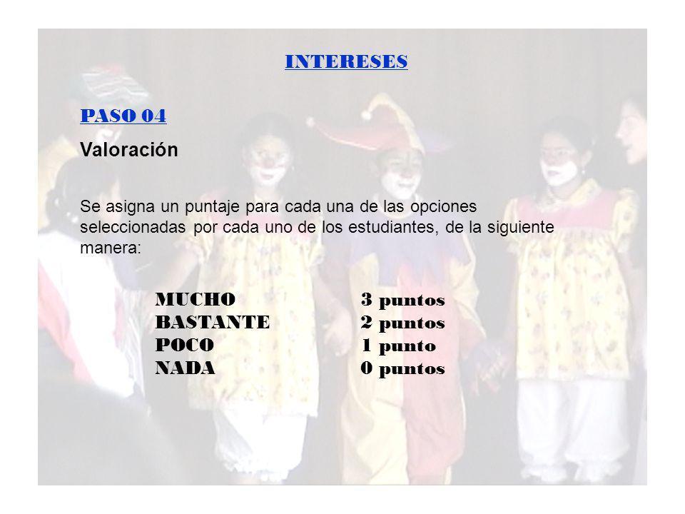 INTERESES PASO 05 Tabulación de resultados.