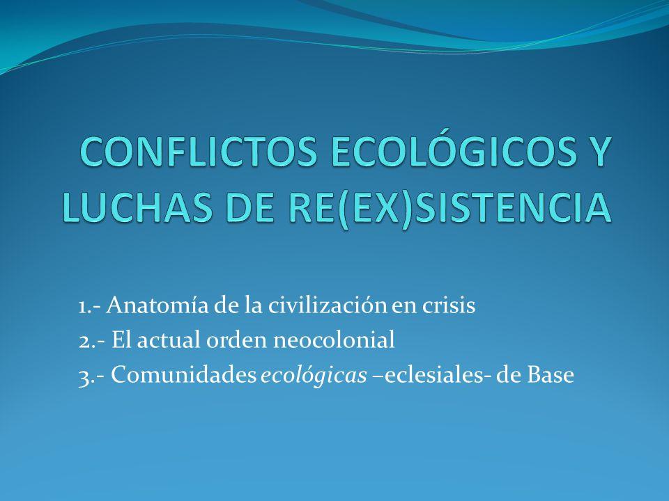 1.- Anatomía de la civilización en crisis 2.- El actual orden neocolonial 3.- Comunidades ecológicas –eclesiales- de Base