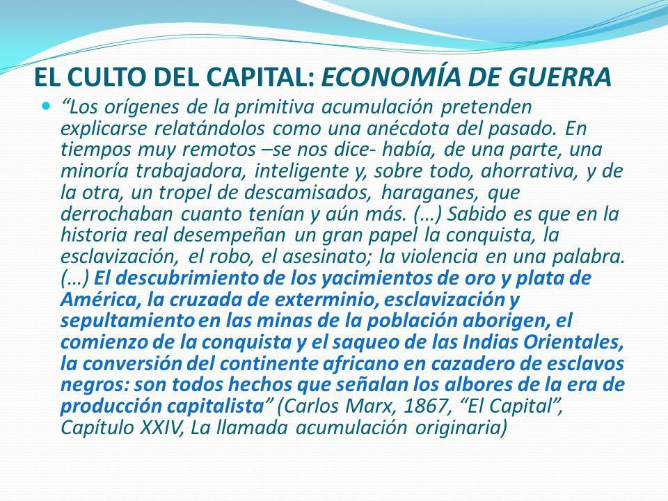 CIVILIZACIÓN = ACUMULACIÓN = COLONIZACIÓN = DESHUMANIZACIÓN (Aimé Césaire, 1950) EL COLONIALISMO ES, ANTE TODO, IMPERIALISMO ECOLÓGICO: APROPIACIÓN Y CONSUMO DESIGUAL DEL MUNDO.