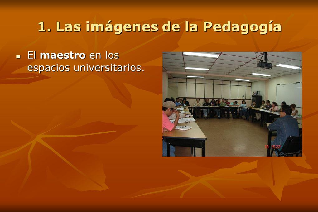 1. Las imágenes de la Pedagogía El maestro en los espacios universitarios.