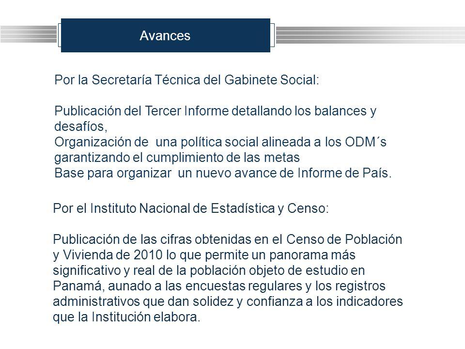 Avances Por la Secretaría Técnica del Gabinete Social: Publicación del Tercer Informe detallando los balances y desafíos, Organización de una política