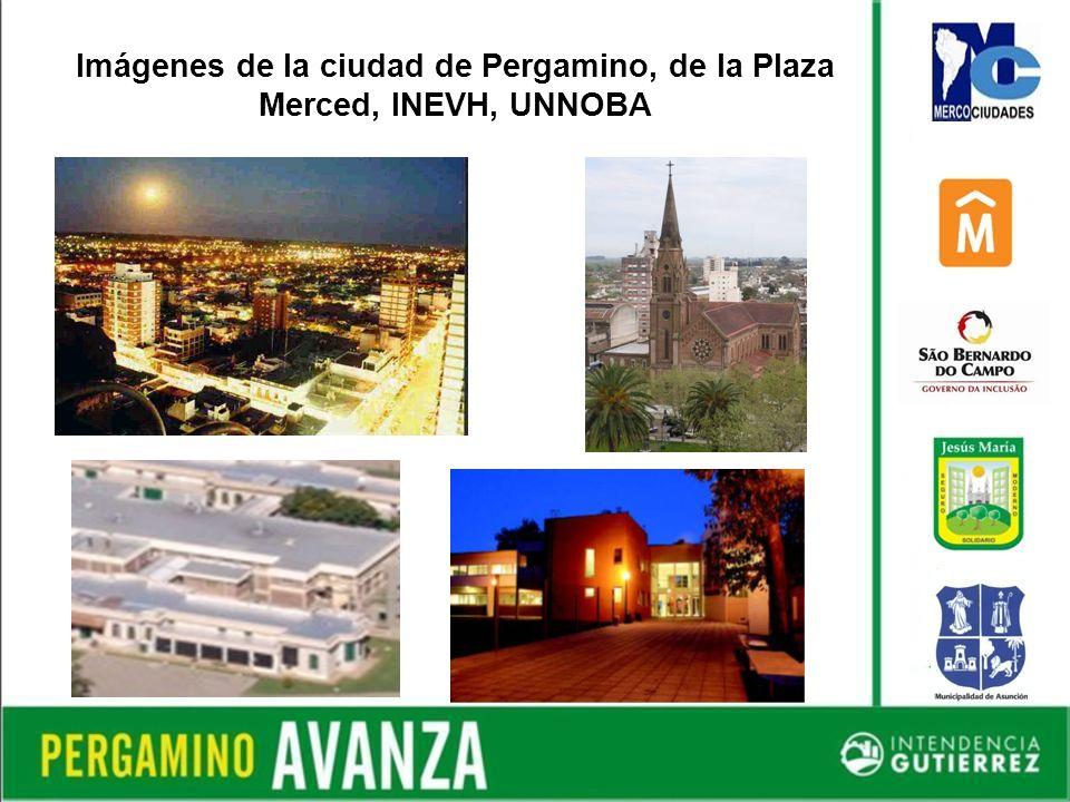 Imágenes de la ciudad de Pergamino, de la Plaza Merced, INEVH, UNNOBA