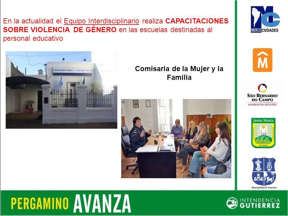 En la actualidad el Equipo Interdisciplinario realiza CAPACITACIONES SOBRE VIOLENCIA DE GÉNERO en las escuelas destinadas al personal educativo Comisaria de la Mujer y la Familia