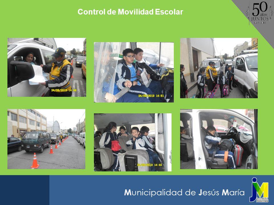 M unicipalidad de J esús M aría Control de Movilidad Escolar