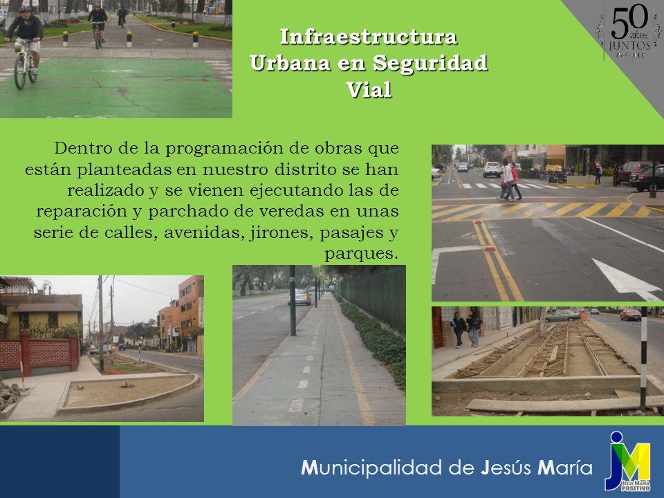 M unicipalidad de J esús M aría Dentro de la programación de obras que están planteadas en nuestro distrito se han realizado y se vienen ejecutando la