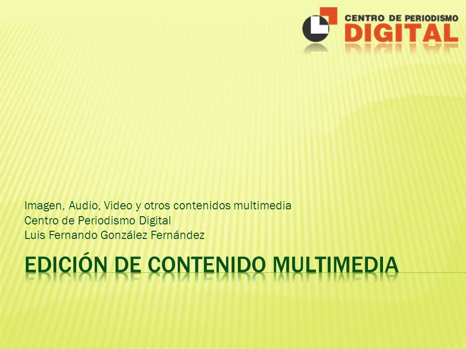 Imagen, Audio, Video y otros contenidos multimedia Centro de Periodismo Digital Luis Fernando González Fernández