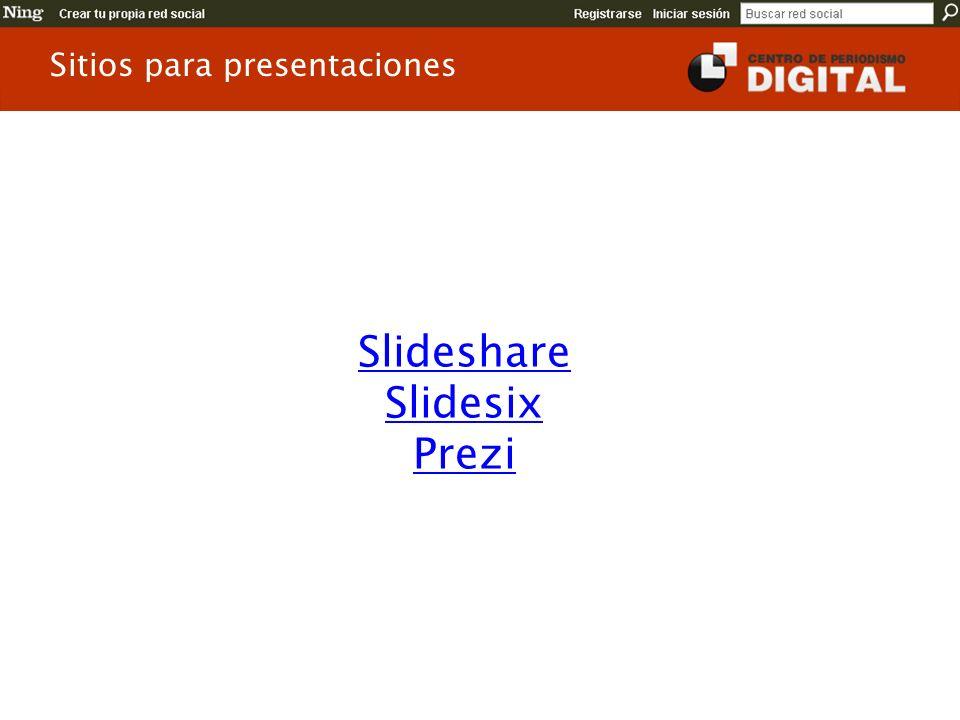 Slideshare Slidesix Prezi Sitios para presentaciones