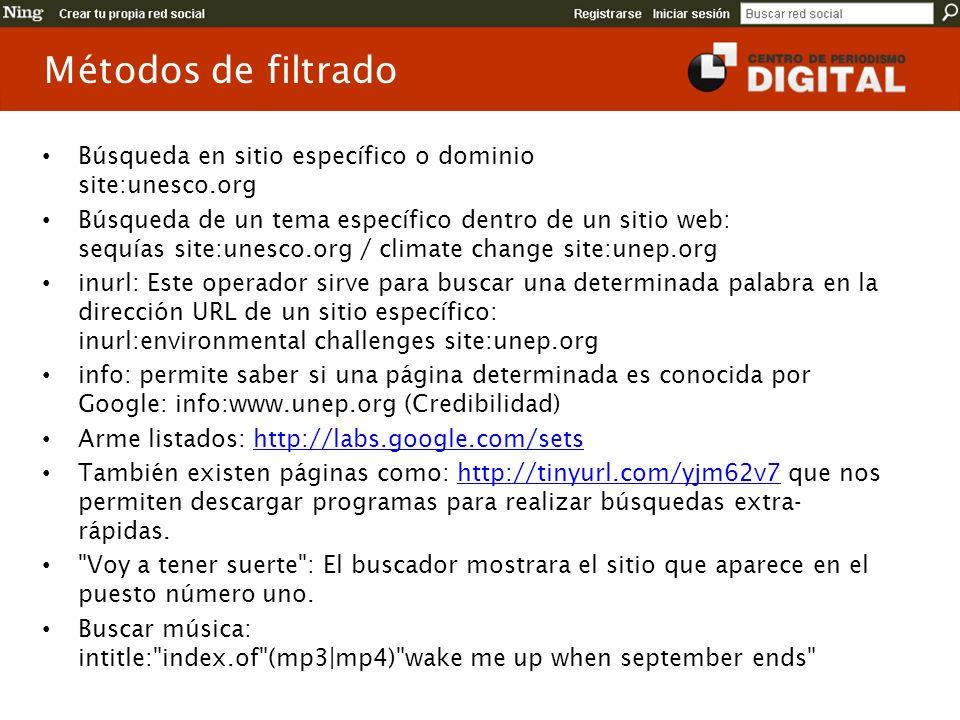 Búsqueda en sitio específico o dominio site:unesco.org Búsqueda de un tema específico dentro de un sitio web: sequías site:unesco.org / climate change