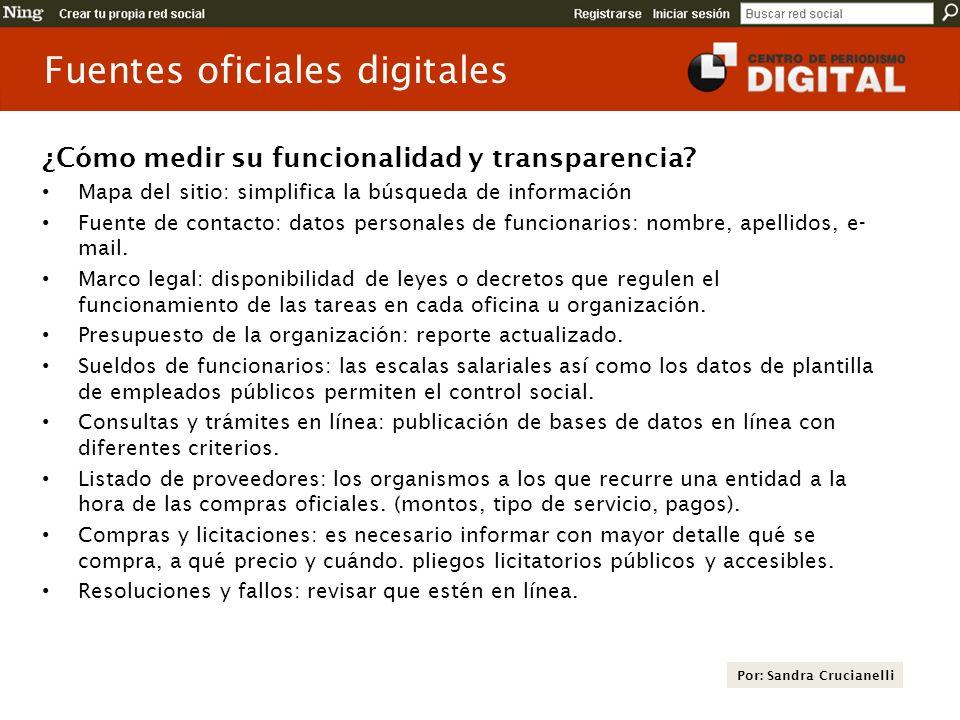 Fuentes oficiales digitales ¿Cómo medir su funcionalidad y transparencia? Mapa del sitio: simplifica la búsqueda de información Fuente de contacto: da
