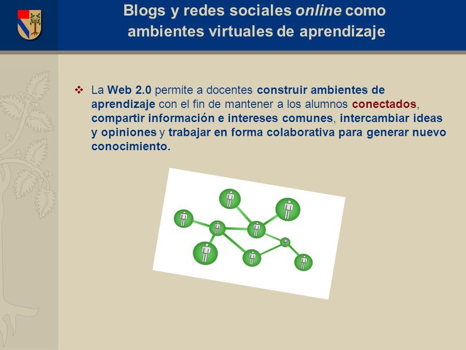 El blog como entorno virtual de aprendizaje (edublog) Caso: e-Periodismo Blogs y redes sociales online como ambientes virtuales de aprendizaje