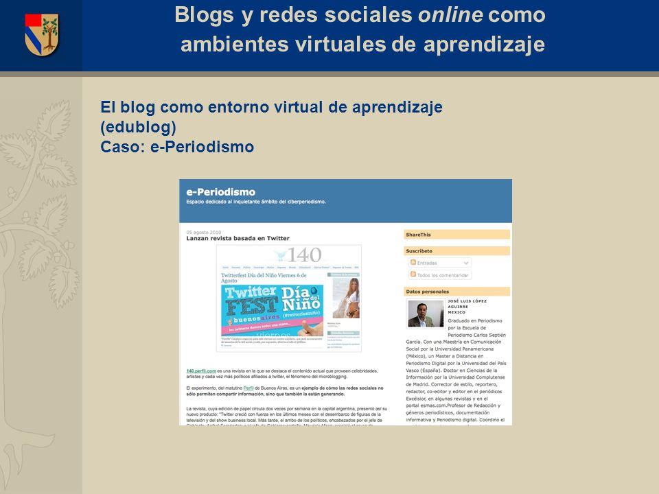 Caso: El edublog del Seminario de Comunidades Virtuales Blogs y redes sociales online como ambientes virtuales de aprendizaje