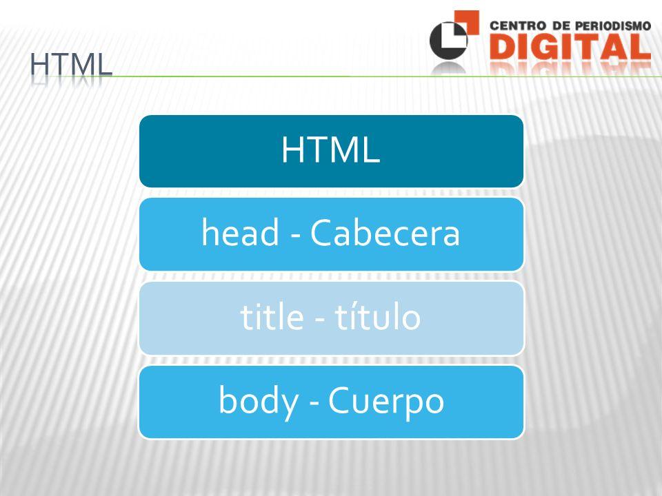 HTMLhead - Cabeceratitle - títulobody - Cuerpo