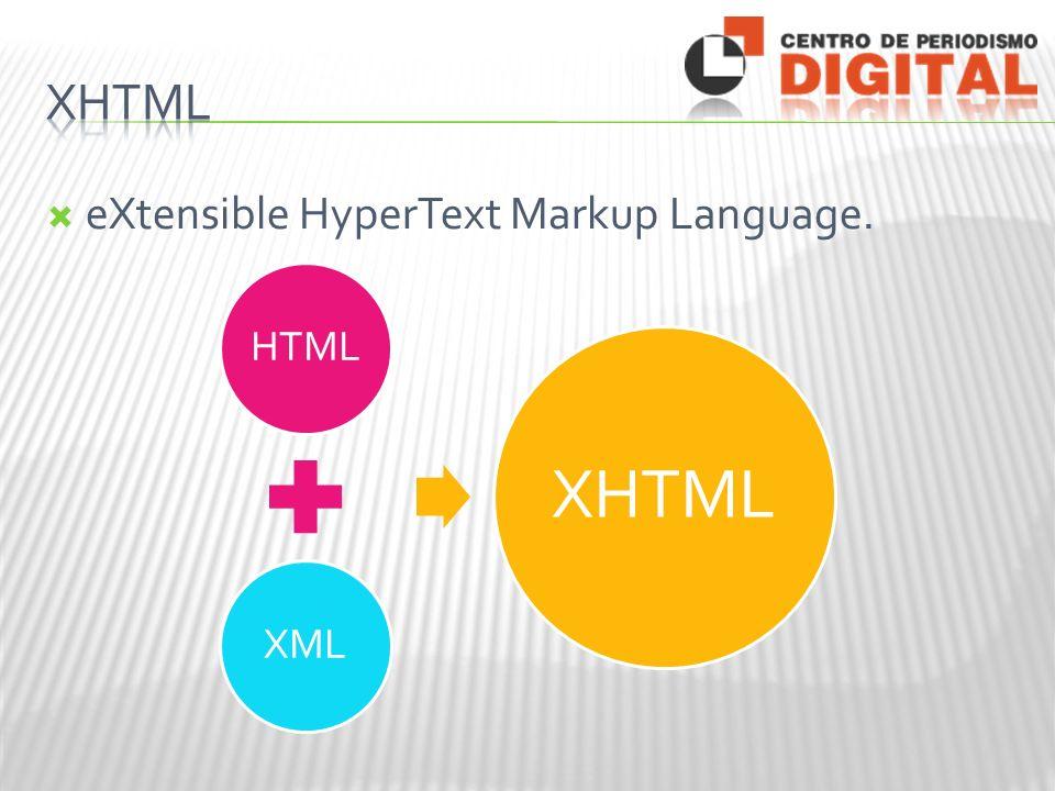 eXtensible HyperText Markup Language. HTMLXML XHTML