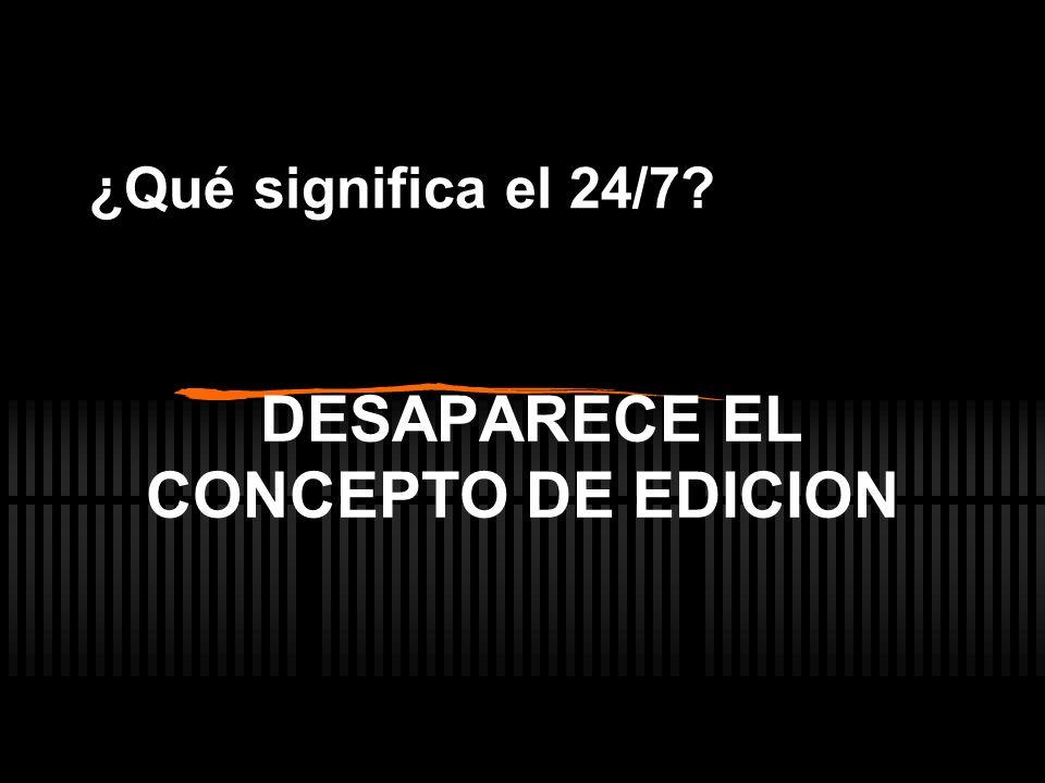 DESAPARECE EL CONCEPTO DE EDICION ¿Qué significa el 24/7?