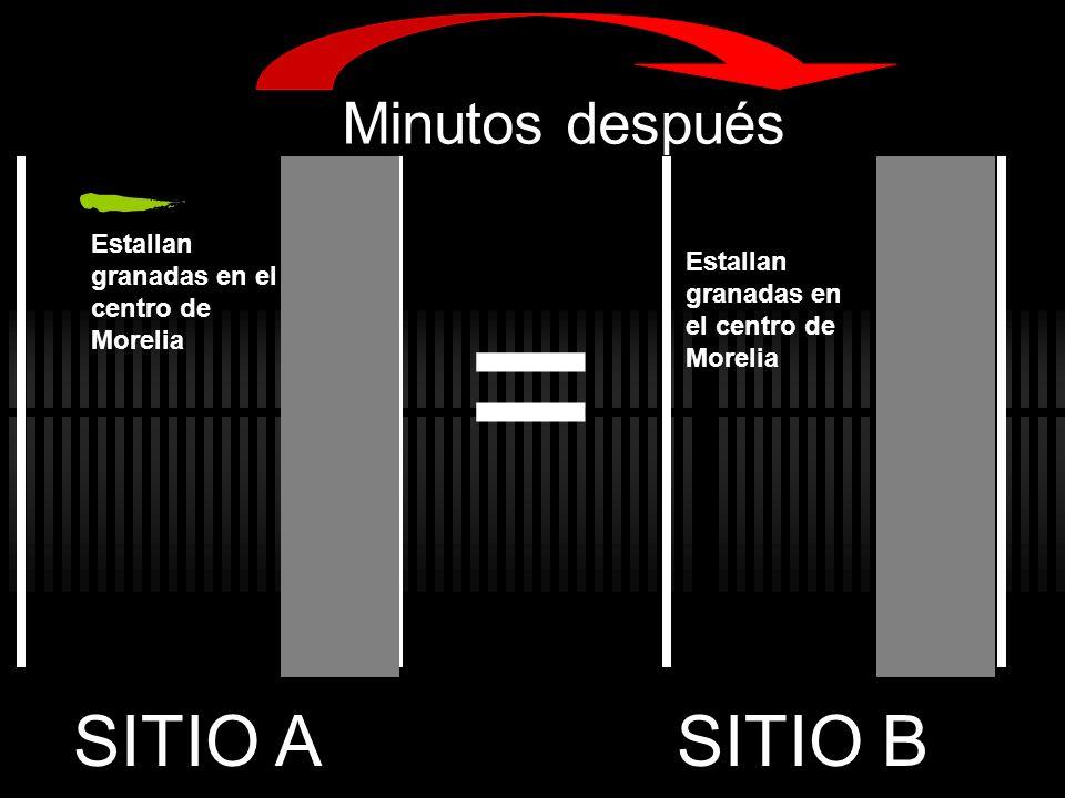 Estallan granadas en el centro de Morelia Minutos después = SITIO ASITIO B
