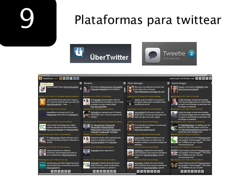 Plataformas para twittear 9