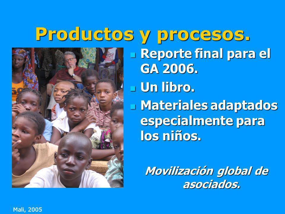 Productos y procesos. Reporte final para el GA 2006.