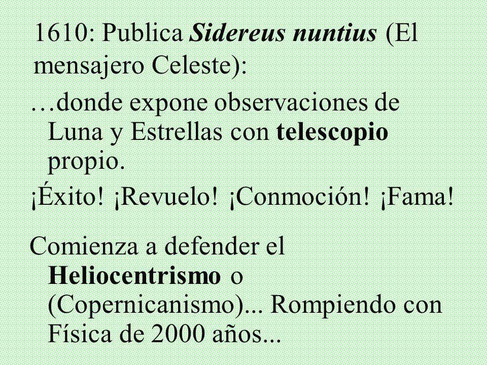 III. GALILEO GALILEI Y SU PROCESO Quién era? Nació en 1564 – Murió en 1642 Familia de abolengo en Pisa. Estudió Medicina, pero luego se dedicó a Matem
