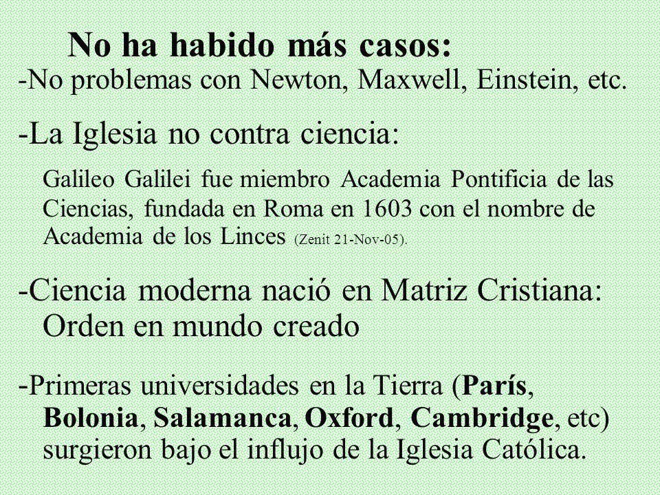 VI. VALORACIÓN FINAL Y BIBLIOGRAFÍA Galileo no fue condenado por lo que dijo, sino cómo lo dijo: verdadero sin presentar pruebas. La Iglesia rectificó