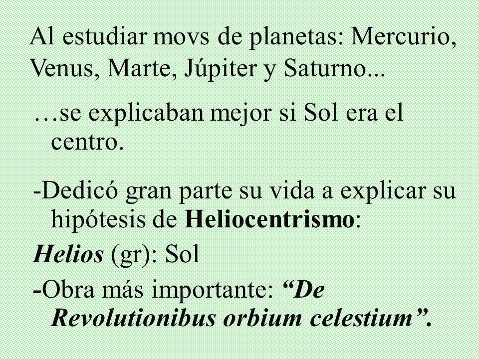 II. COPÉRNICO Y EL HELIOCENTRISMO Quien era? Nicolás Copérnico (1473-1543): Sacd. Católico, Polaco, Astrónomo, Dr. en Derecho Canónico
